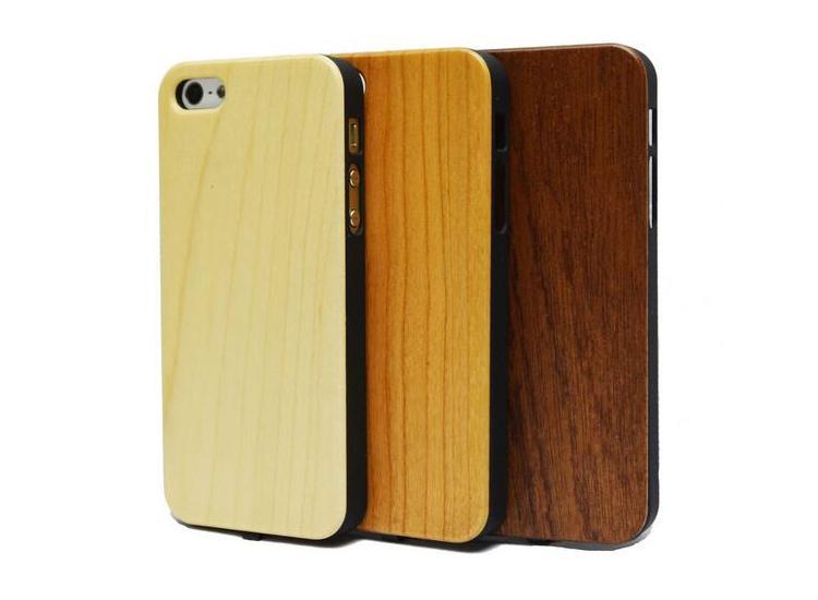 imágenes para Grano de madera Caja Del Receptor Del Cargador Inalámbrico Qi Para iphone5 5S SÍ 6 6 S 6 más 6 s más Potencia de Carga del Transmisor Del Teléfono de Nuevo cubierta