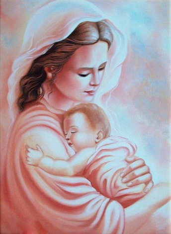 Infant Baby With Mother Love 5d Diy Diamond Painting Cross Stitch Of