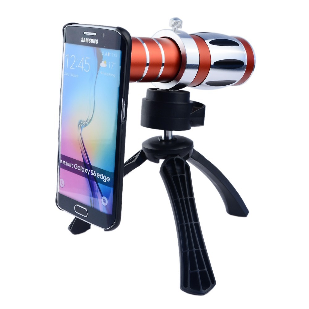 High end 3in1 20x Optical Zoom Telephoto Telescope Lens Kit For iPhone 4 4s 5 5s SE 6 6s 7 Plus Tripod Cases Phone Camera Lenses - 4