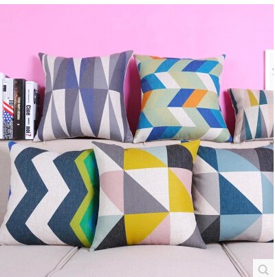 Free shipping Beautiful Bohemian Style Colorful Geometric Pattern cushion cover home car bar cafe decoration throw pillow case