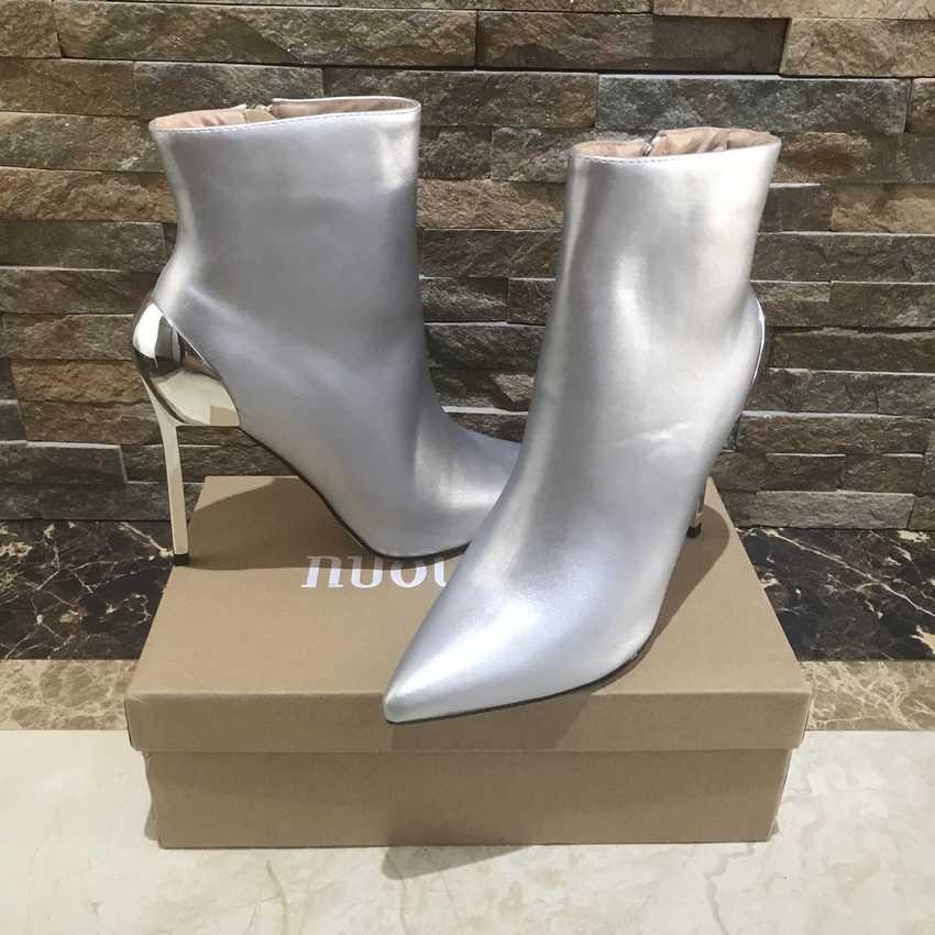 2018 botas de mujer de marca tacones altos botas de tobillo para mujeres de piel caliente botas de mujer de invierno y otoño zapatos de mujer plus tamaño 4-11