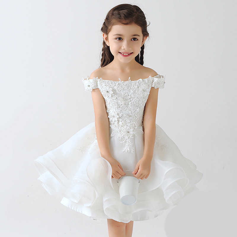 Baby Girls Princess Dress Ball Gown Embroidery Lace Prom Party Girl Dress Fashion 2017 Summer Lace Elegant Flower Girl Dress P06 jioromy big girls dress 2017 summer fashion flower lace knee high ball gown sleeveless baby children clothes infant party dress