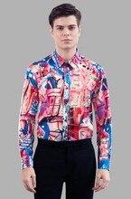 High-grade silk shirts male silkworm silk long sleeve shirt silk satin men's top business and leisure travelers in hangzhou 4