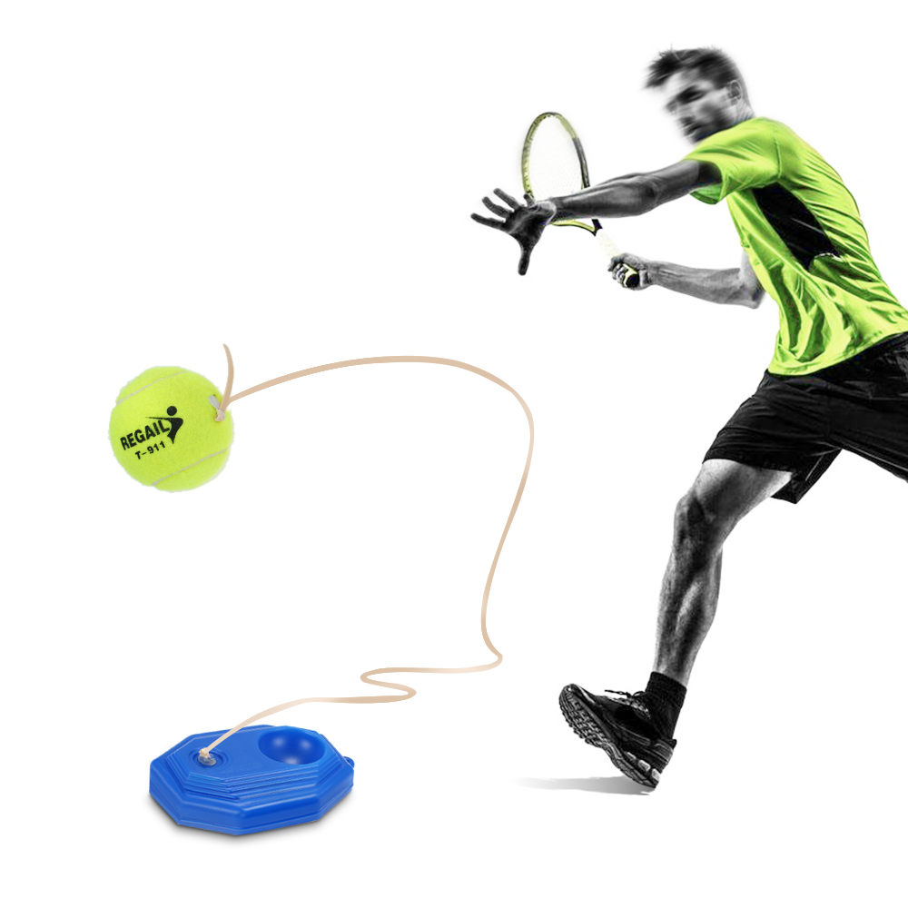 Tennis Trainer Practice Training Tool Baseboard Exercise Rebound Ball Outdoor Sports Tennis Trainer Balls With String