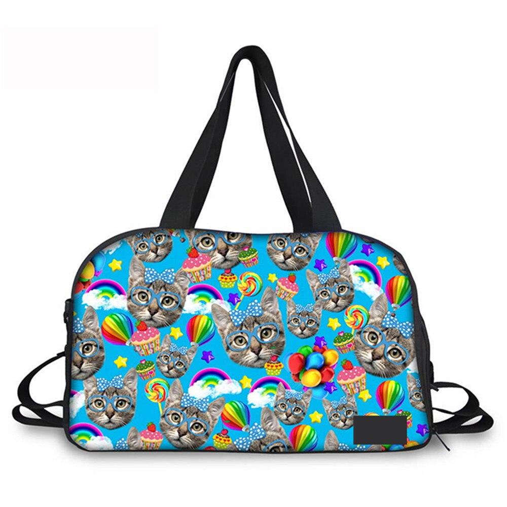 Conceptions bruyantes 3D grande bouche singe et chat personnes imprimé sac à outils sacs de voyage pour les femmes portent sur sac polochon sac LuggageWeekend
