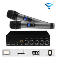 Bluetooth Dual Wireless Handheld Microphone KTV Karaoke echo Microphone UHF High Sensitivity for Family Wedding Party Churches