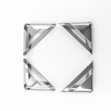 100Pcs Silver Tone Metal Book Albums Menus Scrapbooking Hardware Folders Corner Protectors 24x11mm