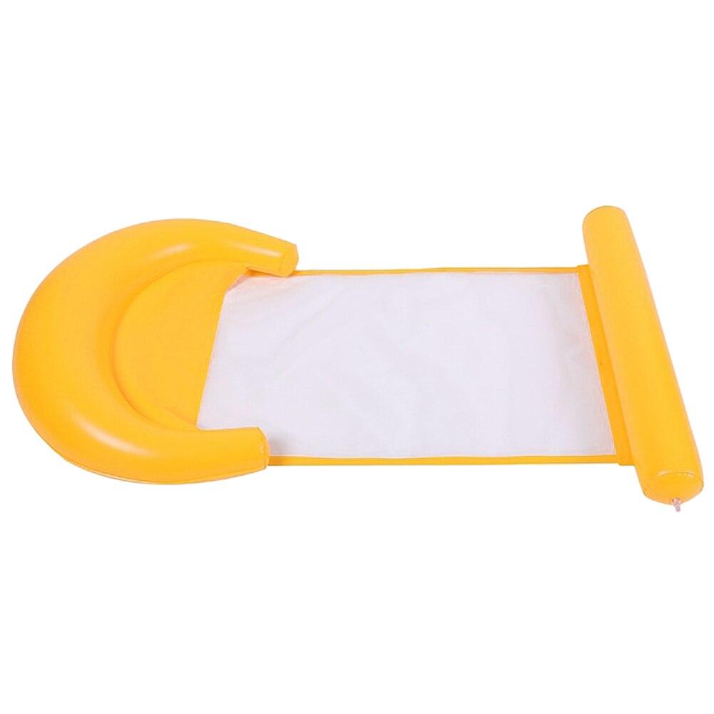 Надувной гамак для воды плавающий кресло-кровать, стул, плавающий бассейн из ПВХ пляжа XD88 - Цвет: Цвет: желтый