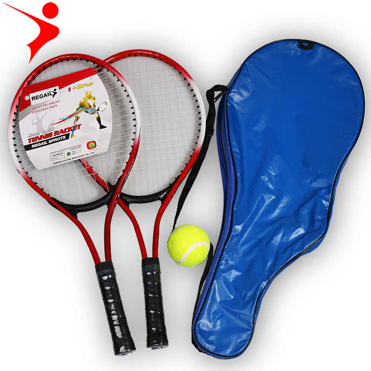 Children and beginners practice tennis rackets,Two tennis racket plus a non elastic tennis and tennis racket storage bag