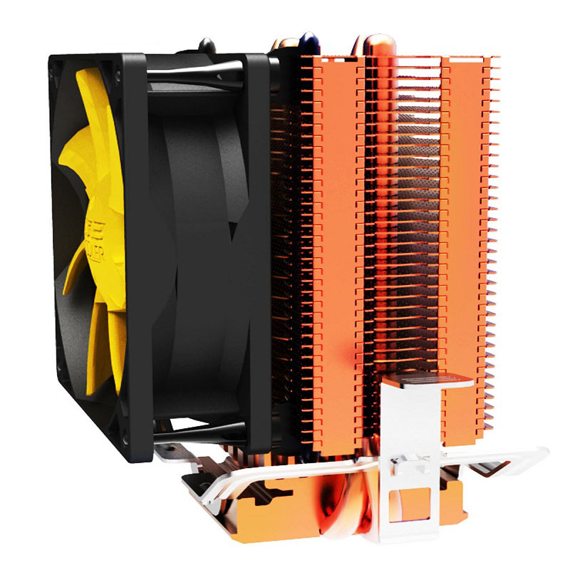 PCCOOLER S83 cpu cooler Copper plating fins 2 heatpipes 80mm/8cm silent fan  CPU cooling radiator fan for AMD Intel 775 1155 11