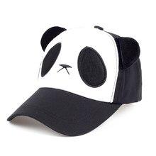 Lindo Panda gorra de béisbol de algodón ajustable sombreros del SnapBack de  las mujeres dama encantadora sombreros lindo estudia. 6cedfbd4f47
