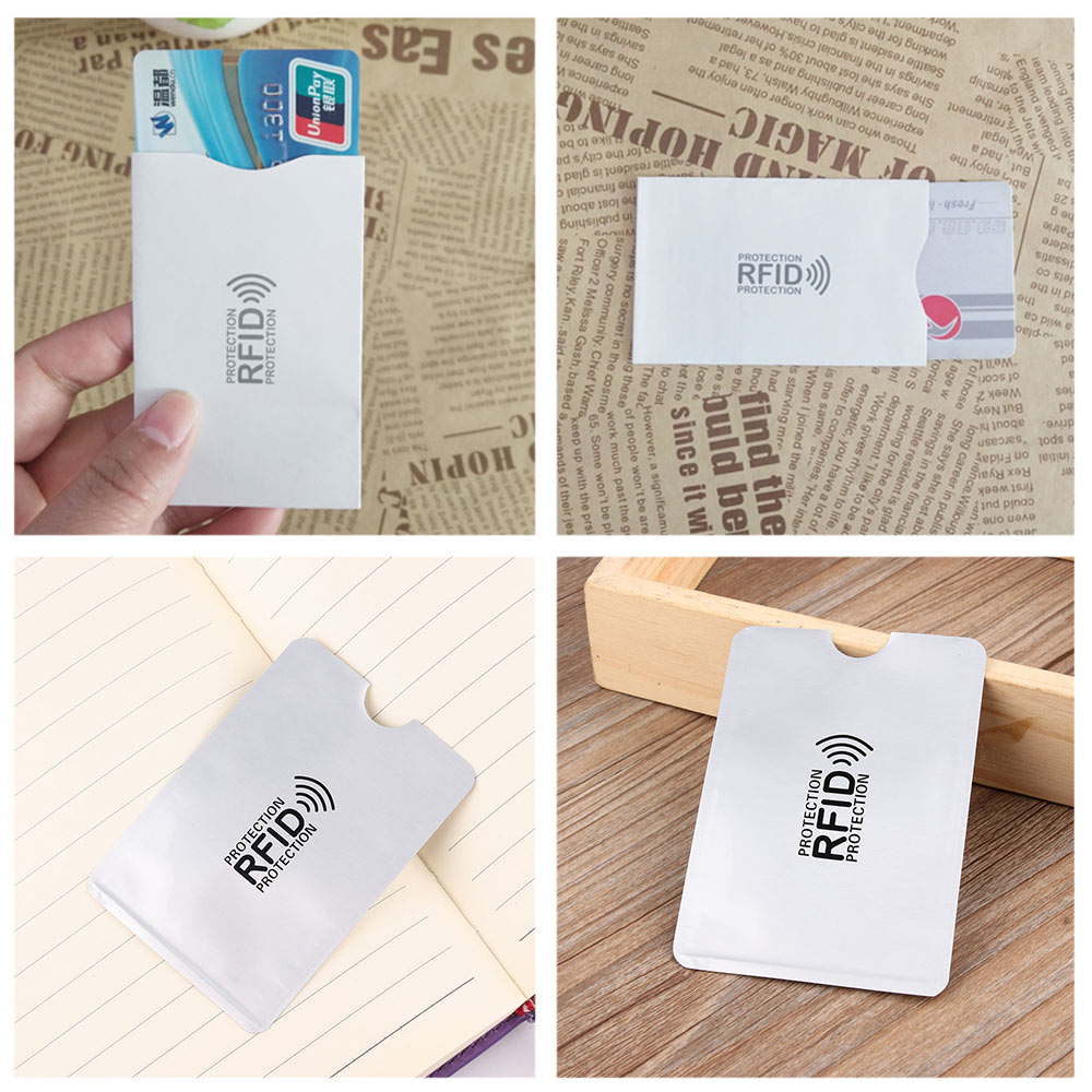 Anti RFID Blocking Reader Aluminium RFID Protection Safety ID Bank Card Case