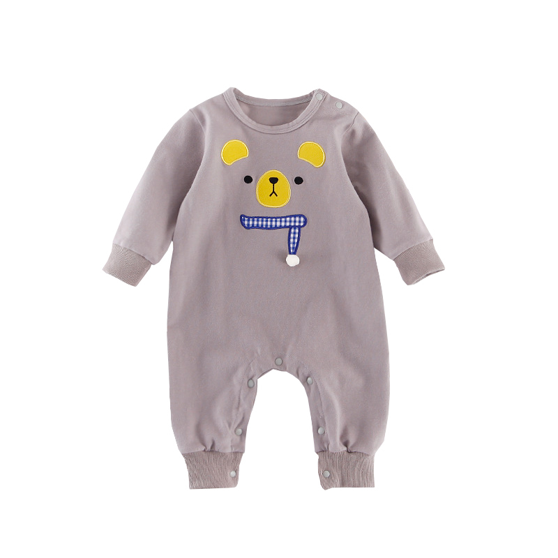 Spring Romper 2018 Baby Boy Infant Animal Cotton Autumn Long Sleeve Kid Grey Pink Girl Bebe Newborn Rompers Baby Clothes Outfits