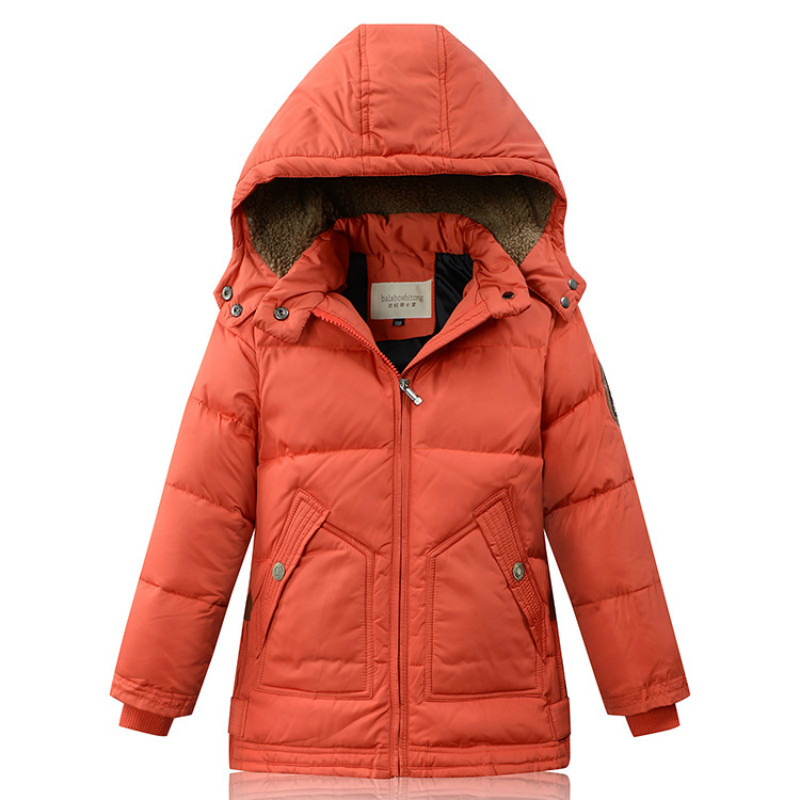 Boys Girls Winter Down Hooded Warm White Duck Down Velvet Long length Coat Outwear Causal Fashion Size for 5, 6, 7,8,9,10 Years