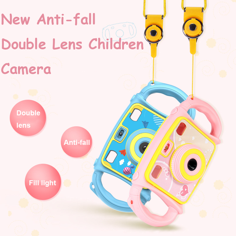 HD Children Mini Digital Camera Waterproof Dual Lens 32G LCD Screen Toddler Toy Christmas Gift for Kids Photo Video Photography