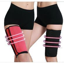 1 Pair Slimming Leg Belt Berkeringat Neoprene Slim Paha Belt Gym Olahraga Berat Badan Pembentuk Tubuh Dukungan Leg Peregangan Z3
