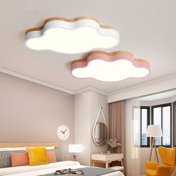 Round Wooden LED Ceiling Lights With Remote Control Modern Ceiling Lamp For Living Room Dining Kitchen Lighting Fixtures