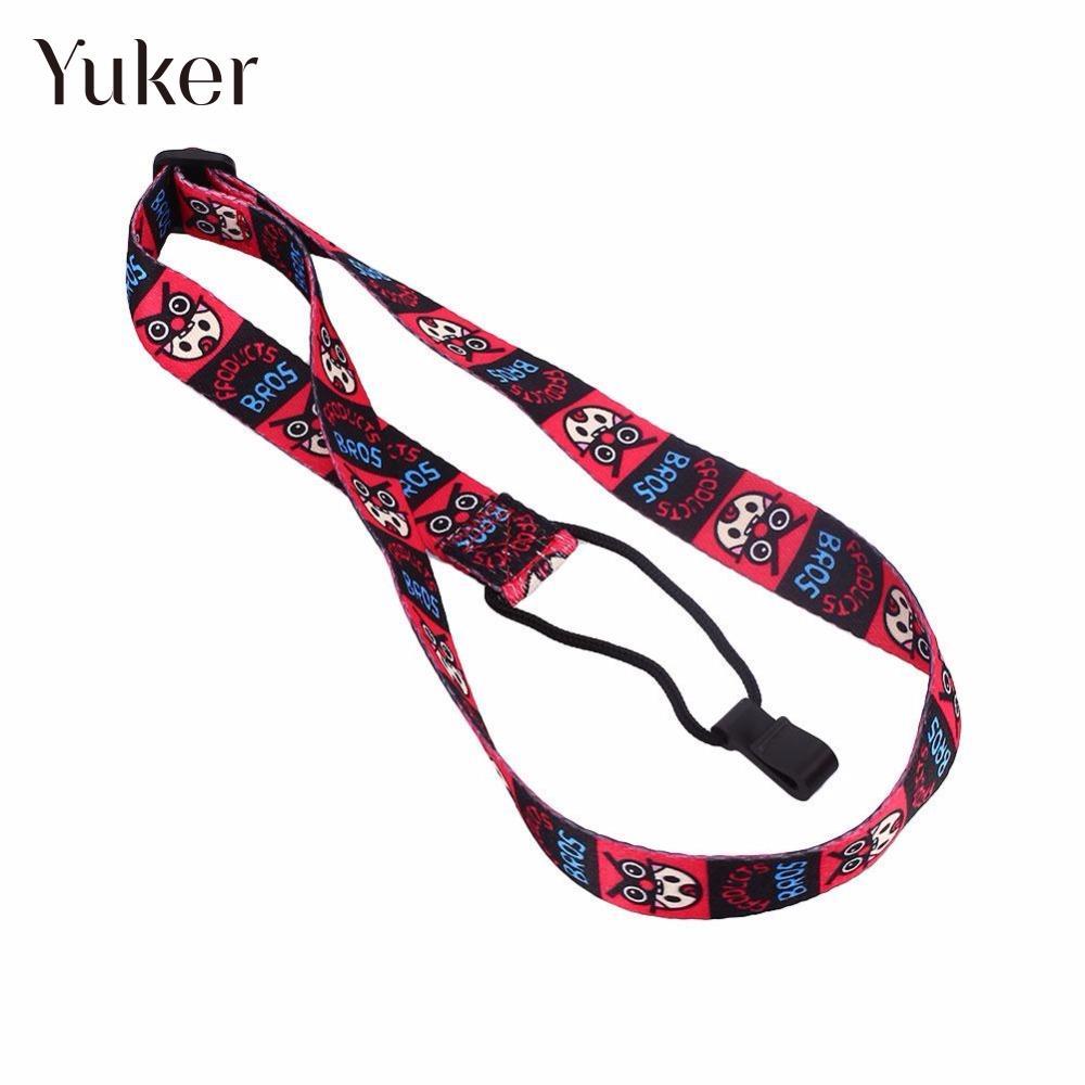 90cm Adjustable Nylon Colorful Ukulele Strap Vivid Printing Style Guitarra Strap belt Sling with hook Ukulele