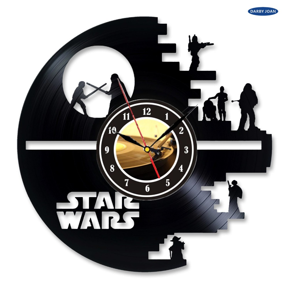 Creativo di Star Wars Vinyl Record Clock Decorazione Camera Da Letto ...