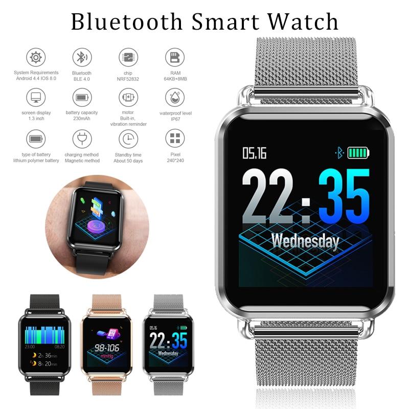 Q3 montre intelligente hommes Fitness Tracker tension artérielle oxygène podomètre fréquence cardiaque connecter les femmes montre Smartwatch pour Android IOS