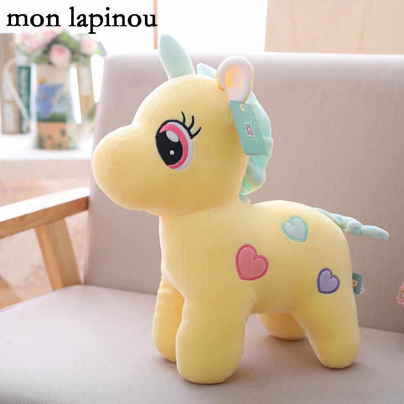 Pluszowy jednorożec śliczne jednorożec koń miękka lalka wypchane zwierzę miękka lalka dla dzieci dla dzieci uspokoić zabawki prezent urodzinowy dla dzieci