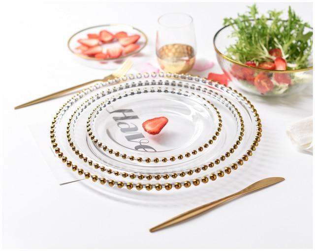 HTB1CdL0LkvoK1RjSZFwq6AiCFXaD.jpg 640x640 - dinnerware - Nordic Gold Bead Glass  Wedding Plates