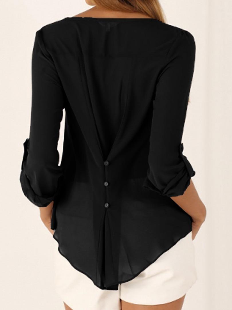 2016 Off Shoulder Długi Rękaw, Dekolt V kobiet Topy Lato Style Solidna Blusas Femininos Kobiety Bluzki Koszula 7