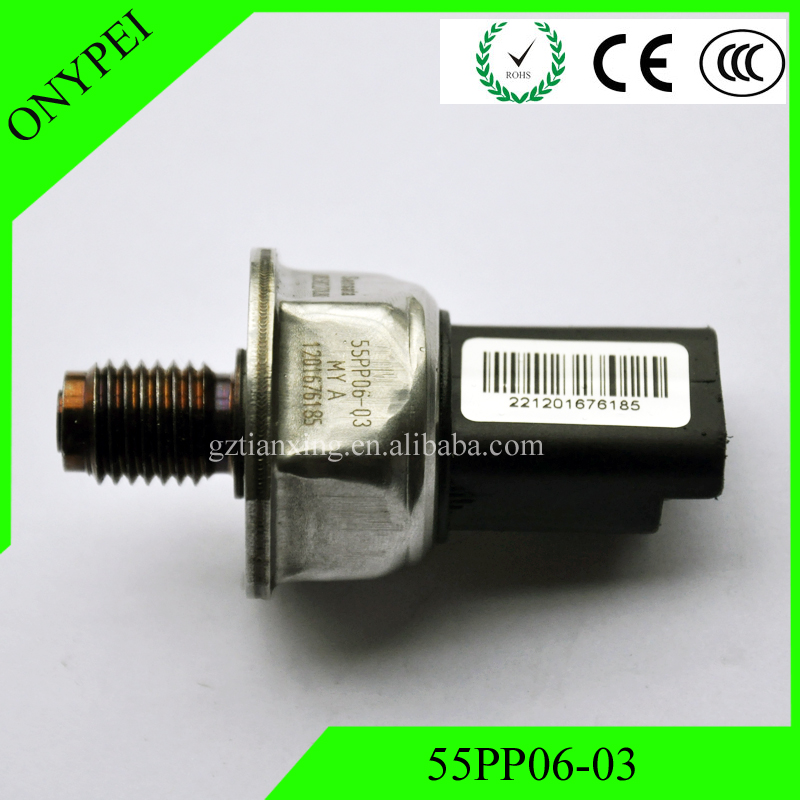 OEM # 55PP06-03 חיישן לחץ מסילות דלק לסיטרואן C3 C4 C5 פיאט סקודו פיג'ו 55PP0603 55PP06 03