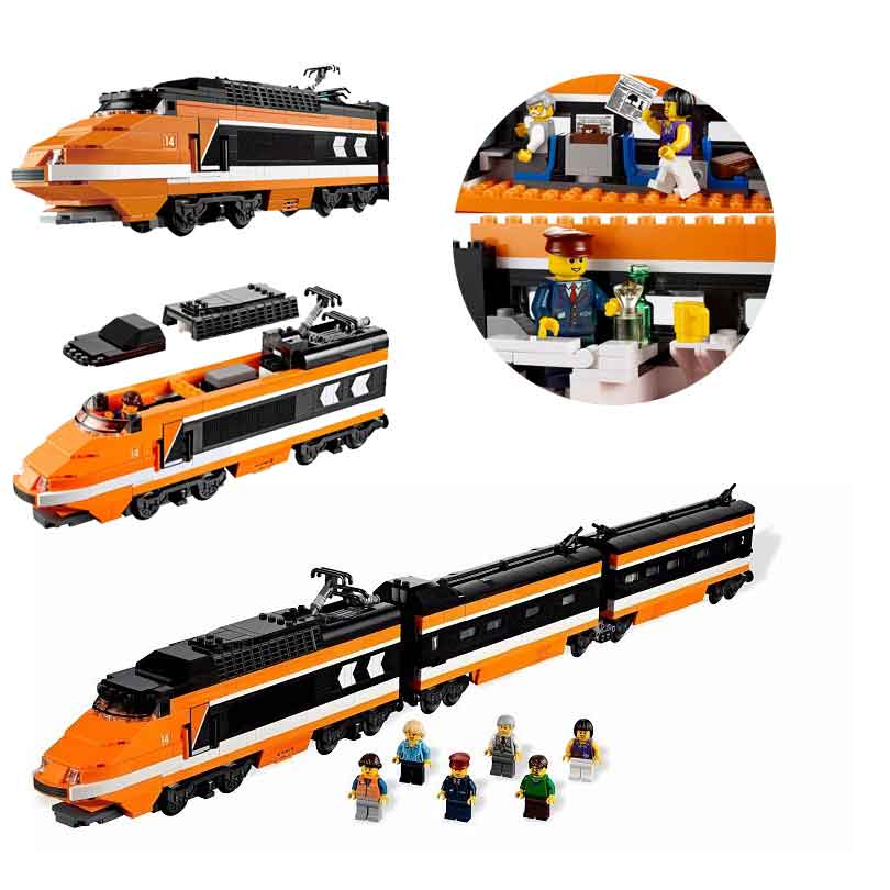 LEPIN 21007 1351Pcs Creator City Series Horizon Express Train Model Building Block Bricks Compatible With Lepind 10233 Toys a toy a dream lepin 15008 2462pcs city street creator green grocer model building kits blocks bricks compatible 10185