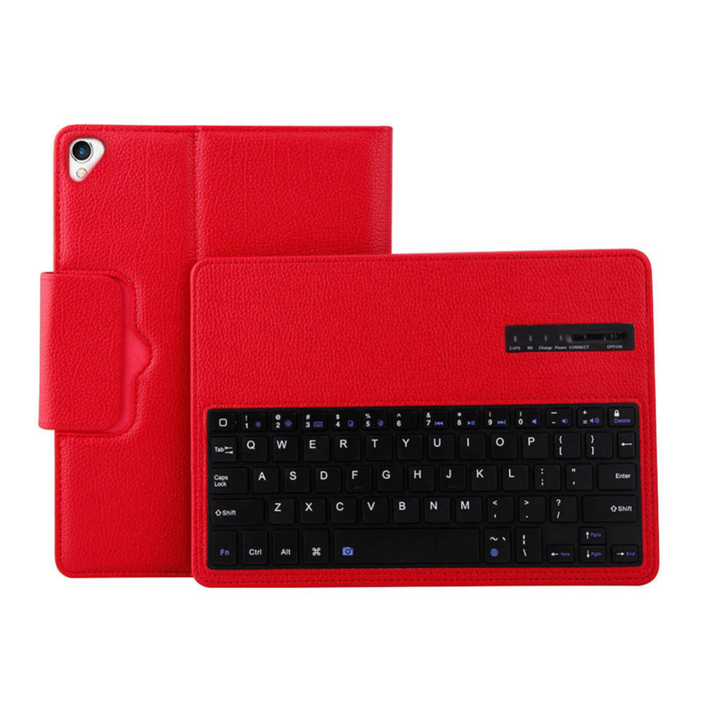 цена на Bluetooth Keyboard Leather Case With Keyboard 200mA Black White Red Pink For Ipad 12.9 Inch