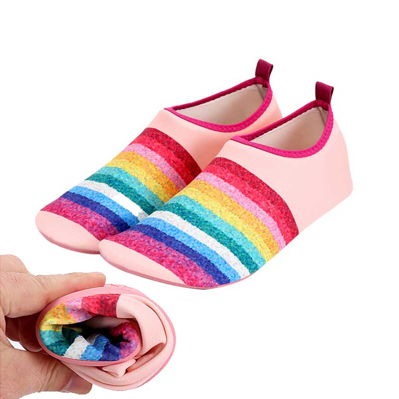 Rainbow Women Casual Shoes Quick-Dry Water Shoe Lovers Lightweight Swimming Aqua Mutifunctional Beach Shoes Pool Surf Yoga Shoes