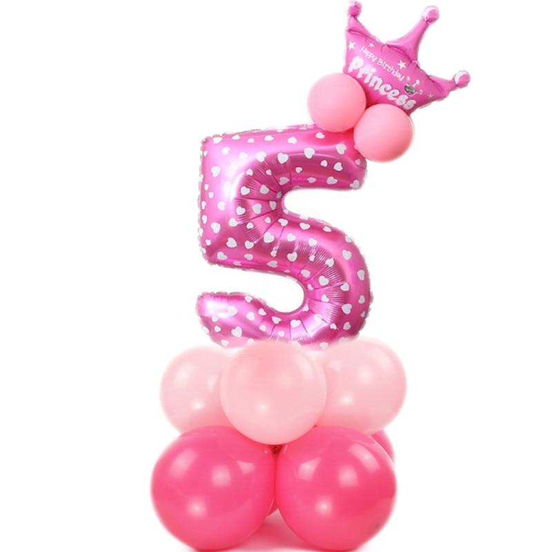 Dropwow Birthday Number Balloon Princess Party Foil Ballons