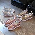 girls shoes spring autumn 2017 cute Sequins kids footwear rabbit