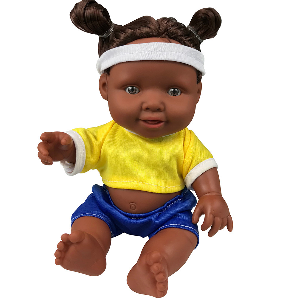 Newest 2018 Baby's Dolls Baby Movable Joint African Doll Toy Black Doll Best Gift Toy Afrikaanse Pop @30