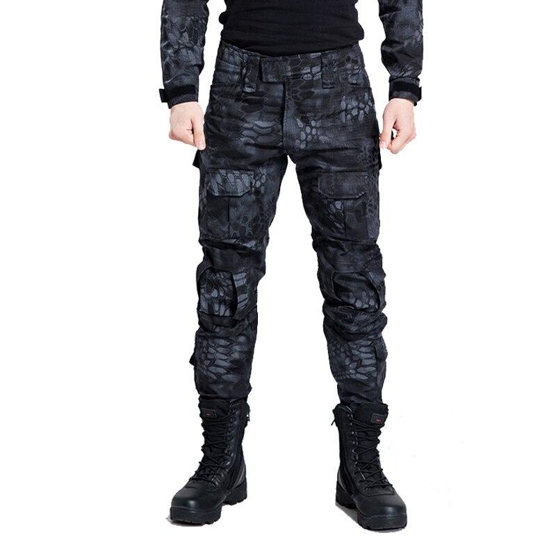 f17be158c62 Pantalones tácticos militares hombres camuflaje carga Airsoft Paintball  pantalones SWAT ejército especial soldado Hunter campo de trabajo  pantalones de ...