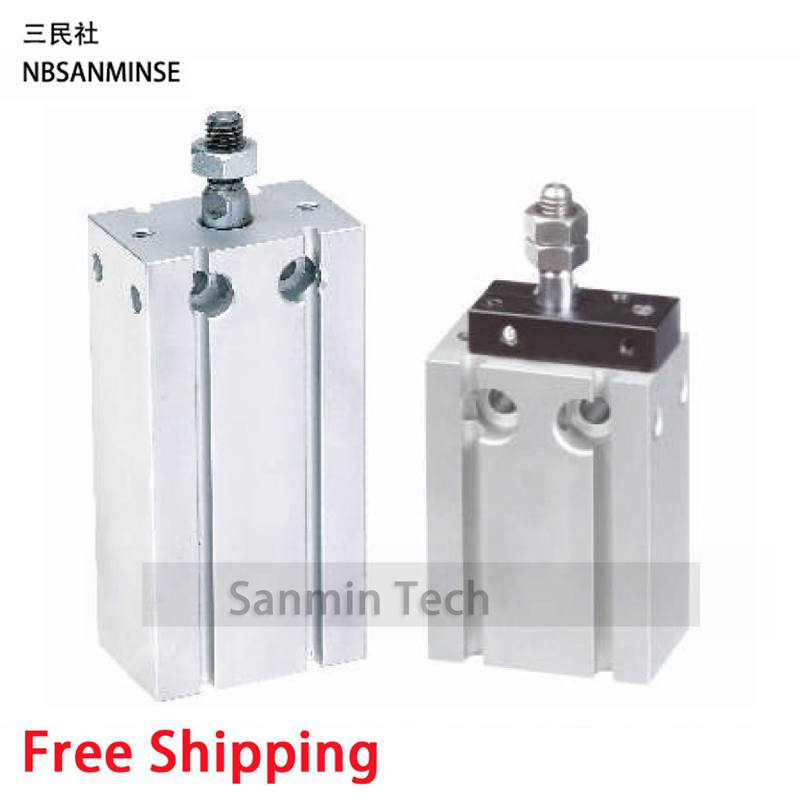 Free Shipping Free Mount Cylinder CU Type SMC Cylinder Double Acting Single Rod Pneumatic Compressed Air Sanmin new original pneumatic standard double action free mount panel type cylinder mpg16x30s