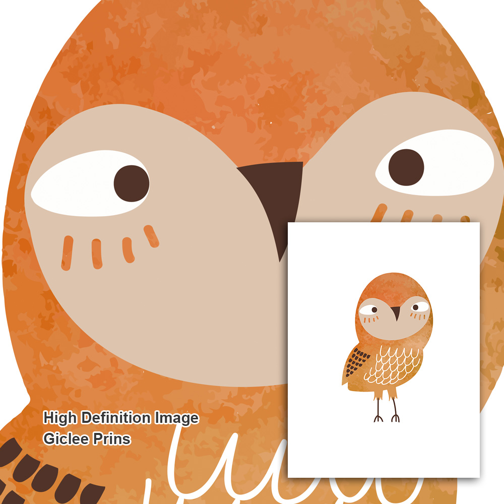 Cartoon Owl Bird Animal Minimalist Nordic Posters And Prints Wall Art Canvas Painting Nursery Wall Pictures Baby Kids Room Decor in Painting Calligraphy from Home Garden