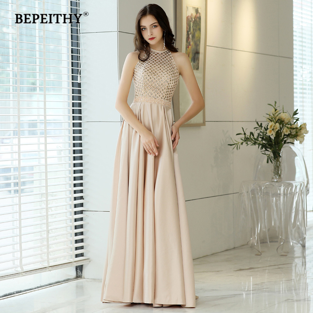 BEPEITHY 2019 Beads Top Vintage Evening Dresses Long Robe De Soiree Elegant Prom Dress Formal Gown Abendkleider