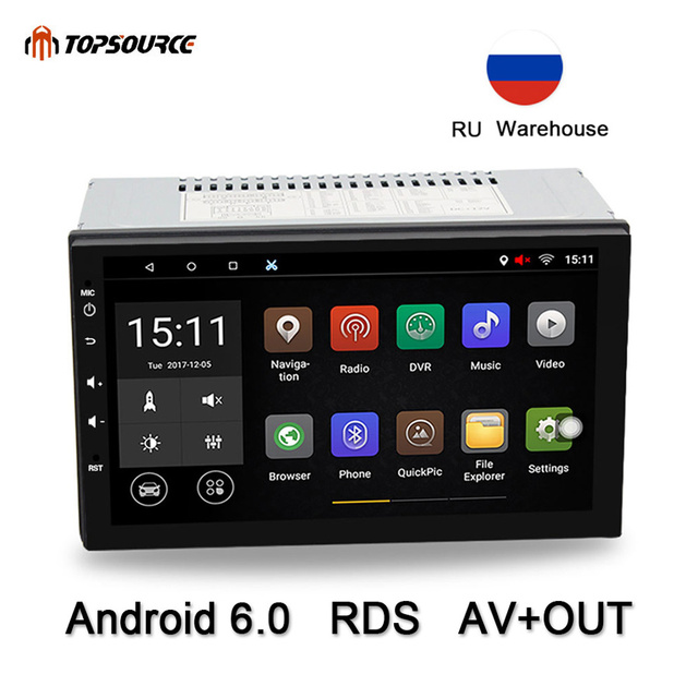 """TOPSOURCE Universal 7"""" 2 din Car DVD Player Rds Car Radio GPS Navigation WIFI Bluetooth Android Quad Core 1G/16G 1024*600"""