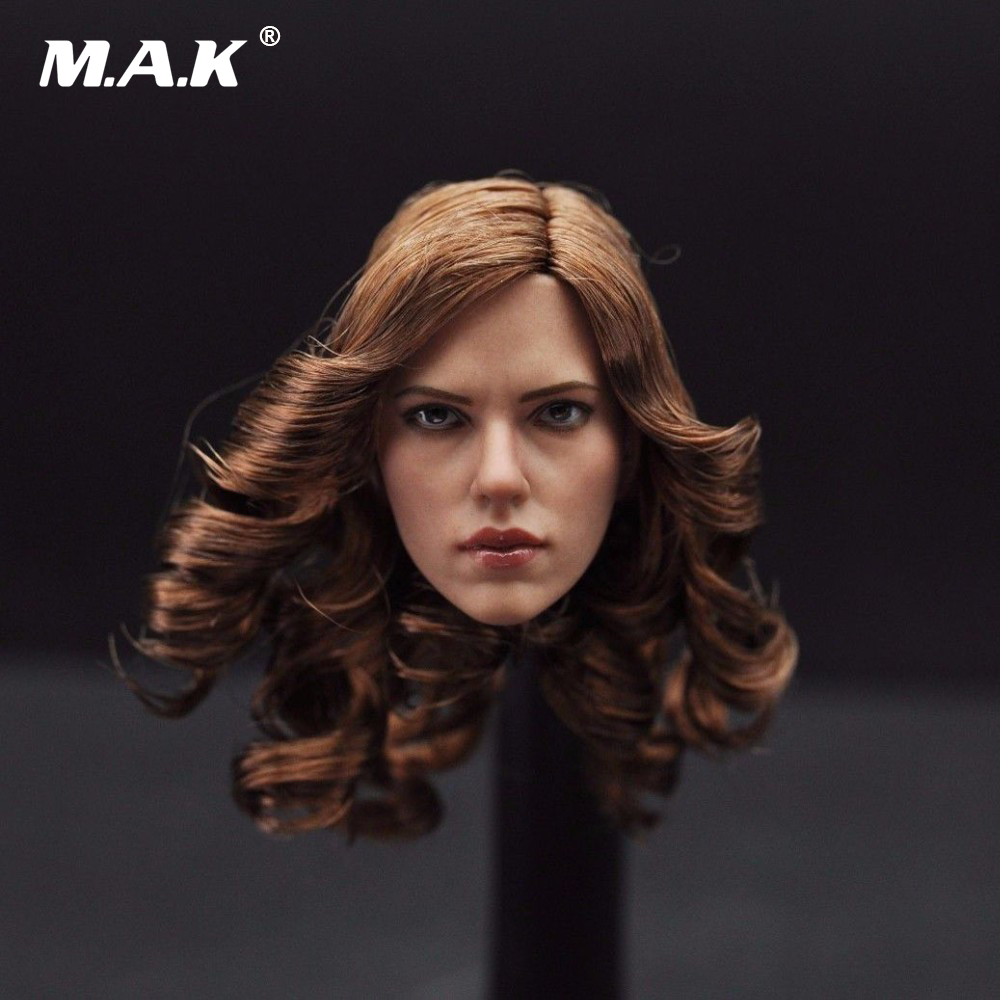 1/6 Scarlett Johansson Female Head Sculpts Black Widow Woman Head Carving Model Toys For 12 Female Action Figure Body Gifts kumik toys 1 6 female short hair head sculpts model kids toys girl head carving 13 46 np 12 action figure collections