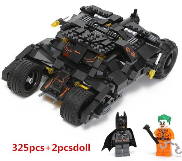 hot sale 325pcs new Comics Super Heroes Batman series The Tumbler car model Building Blocks classic Compatible with Toy Set