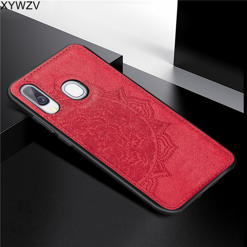 Image 3 - For Samsung Galaxy A40 Case Soft Silicone Luxury Cloth Texture Hard PC Phone Case For Samsung Galaxy A40 Cover For Samsung A40-in Fitted Cases from Cellphones & Telecommunications