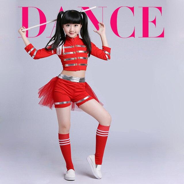 19324caad5aa Girls Cheerleader Uniform School Girl Costume Full Outfits Fancy Dress  Costume Jazz Dancer Clothes