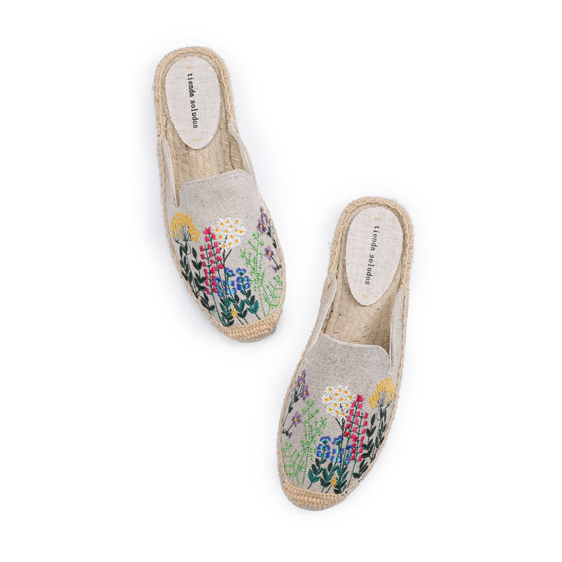 2019 New Promotion Hemp Rubber Cotton Fabric Mixed Colors Unicornio Pantufas De Pelucia De Bichos Flip Flops Tienda Soludos