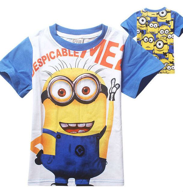 Kid Shirts Despicable Minions Clothes Summer Style Boys Minion T