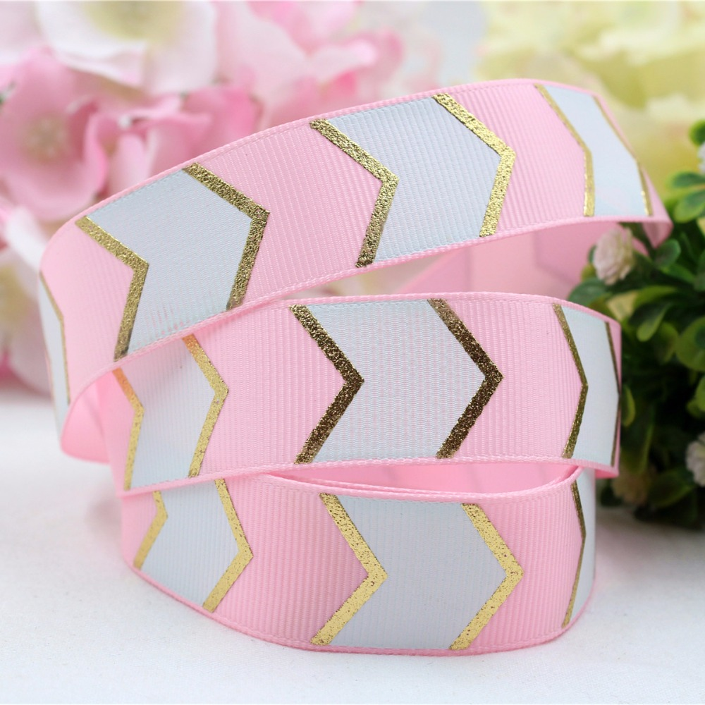 16548,25MM bronzing printed satin ribbon Baltic, DIY handmade Hair material wrapped wedding accessories, free shipping.