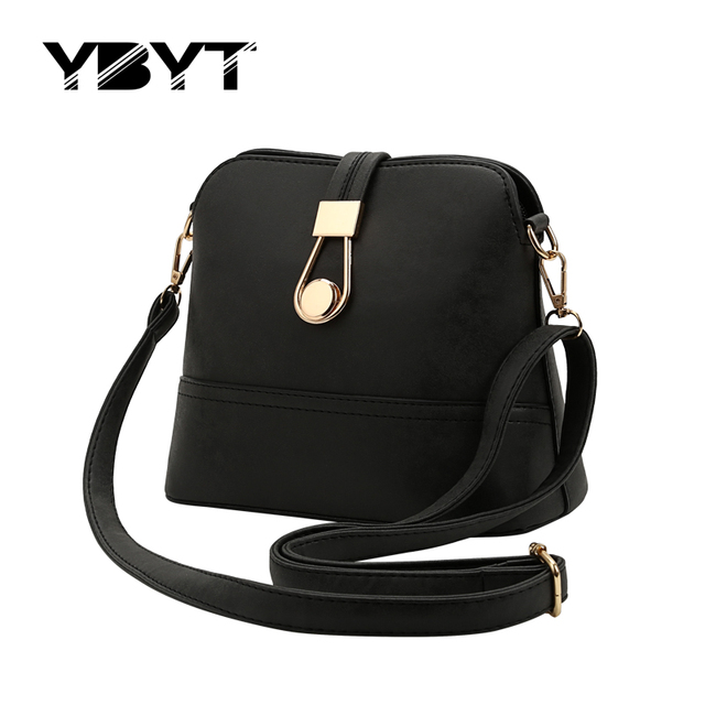 YBYT brand 2017 new fashion simple nubuck PU leather knitting shell bags hotsale ladies small shoulder messenger crossbody bags