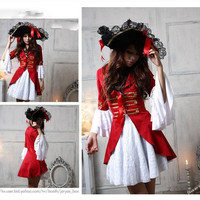 Sexy women Halloween Pirate Costumes Adult Female corsair Cosplay Exotic Apparel Role play party dress Carnival Masquerade suit