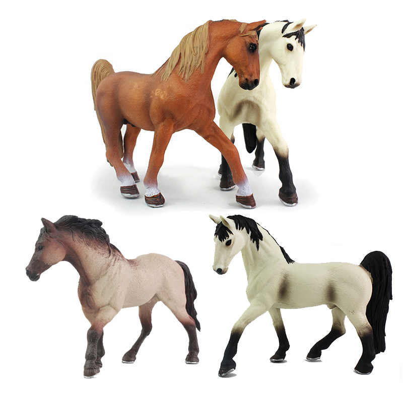3 Type Poultry animals Horses models figures figurines toys plastic Simulation horse Toy Collect Decorate Gifts 13CM