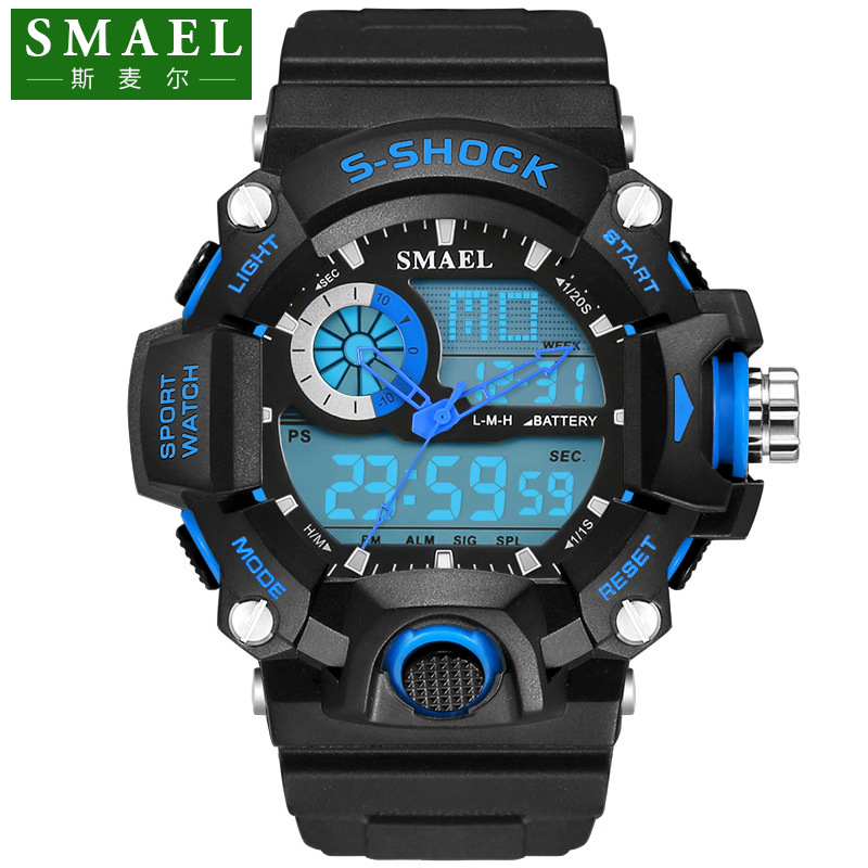 цены SMAEL G Style Shock Watch Digital Men Electronic Watch Sports Waterproof Male Clock LED Wristwatch Quartz-Digital Reloj PU Band